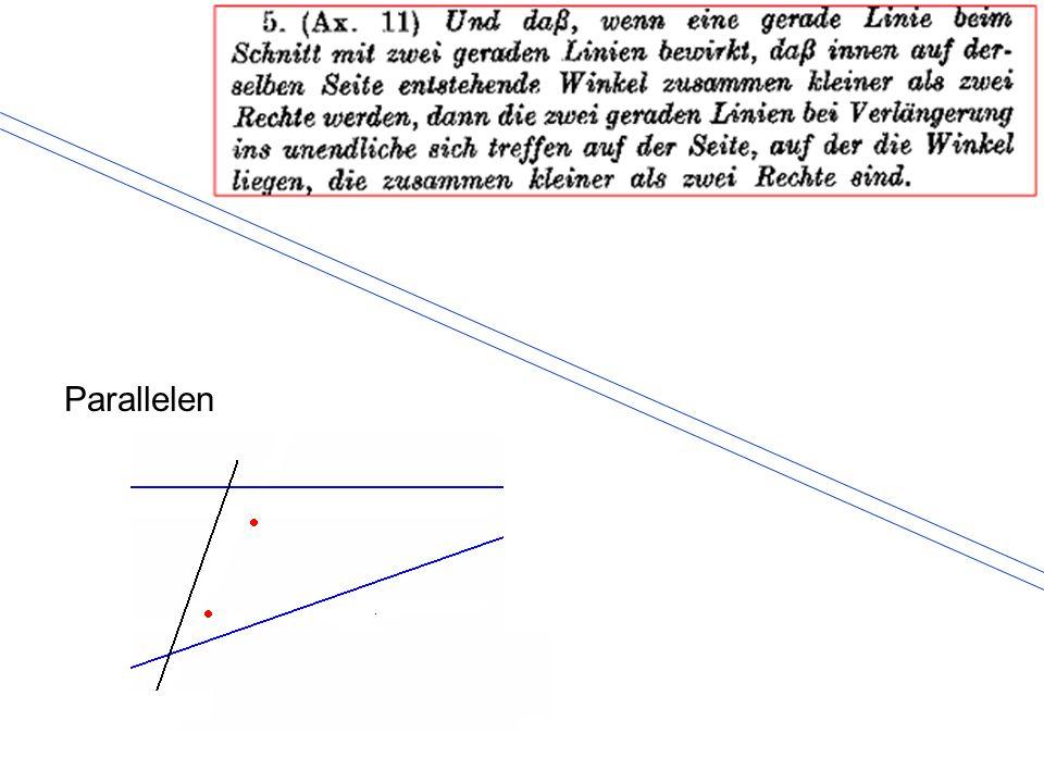 Girard Desargues (1593 - 1662) Alle Parallelen streben zu einem Punkt der Unendlichkeitslinie.
