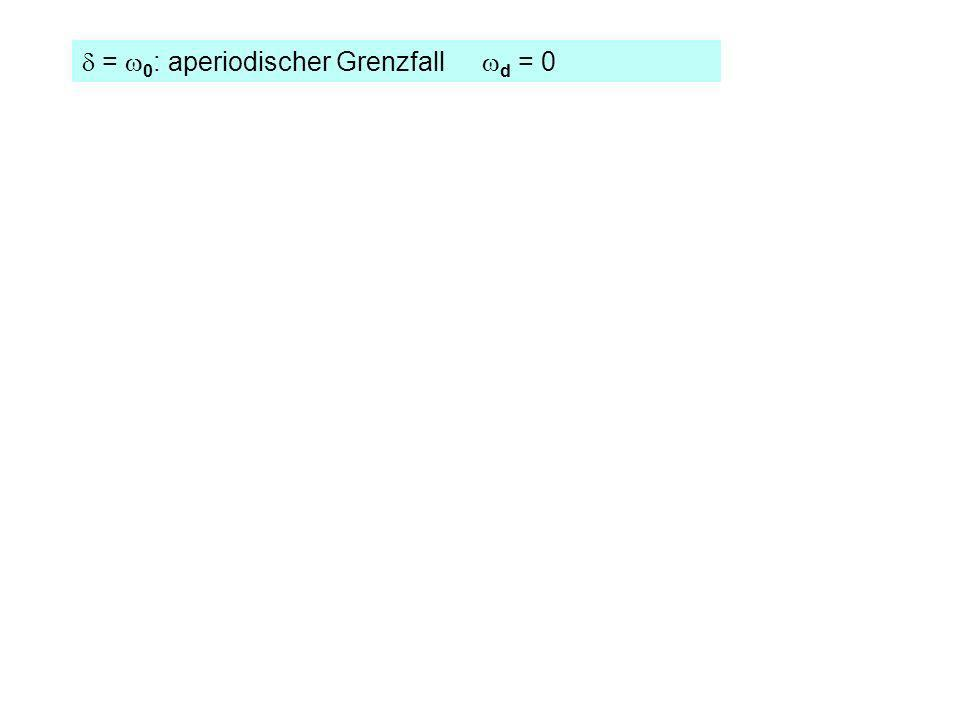 = 0 : aperiodischer Grenzfall d = 0