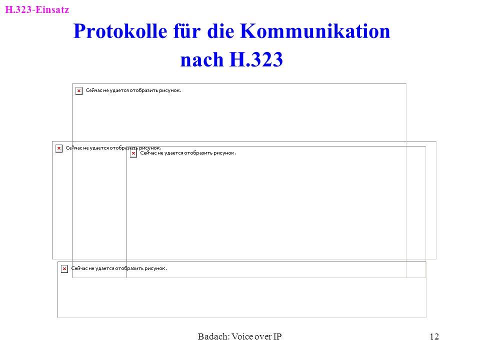 Badach: Voice over IP11 H.323-Basiskomponenten H.323-Einsatz MCU: Multipoint Control Unit