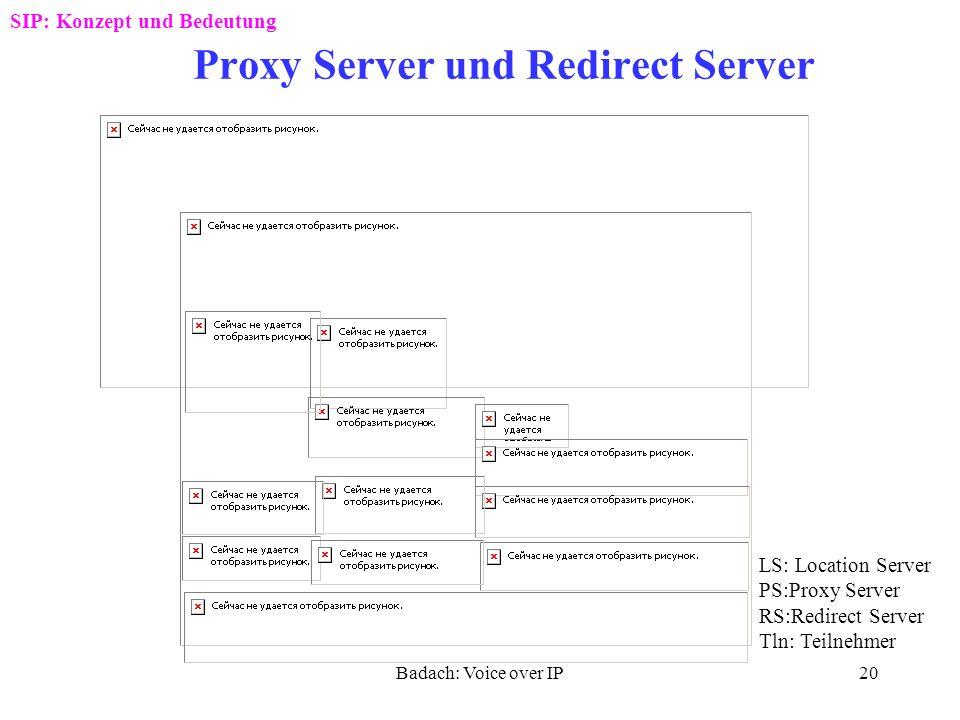 Badach: Voice over IP19 Beispiel für einen SIP-Verlauf SIP: Konzept und Bedeutung
