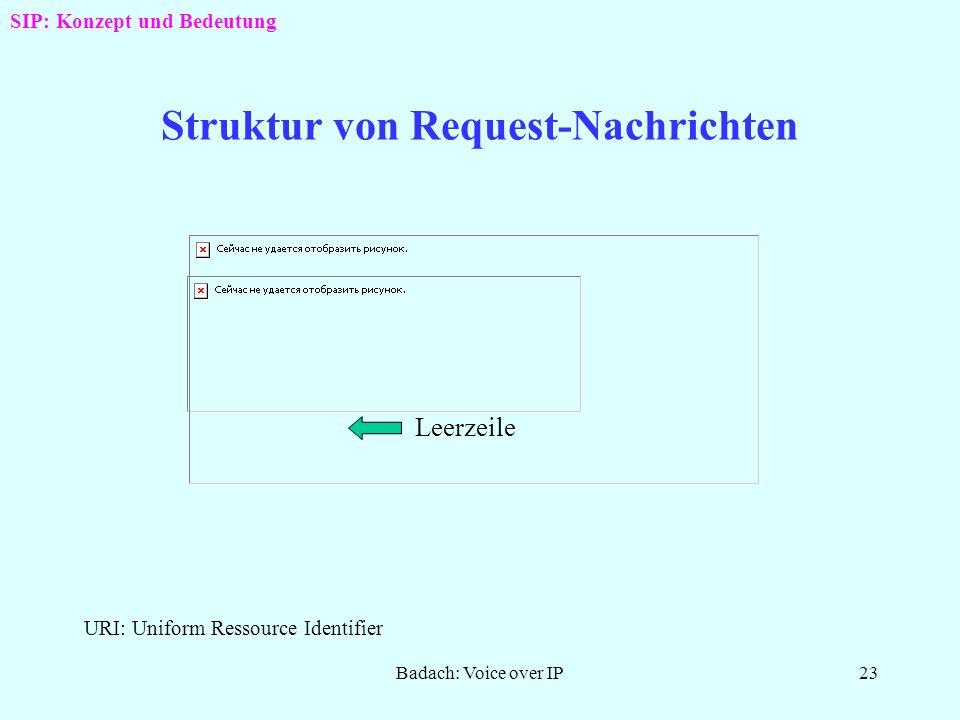 Badach: Voice over IP22 SIP-Verlauf im Redirect-Mode SIP: Konzept und Bedeutung LS: Location Server Tln: Teilnehmer