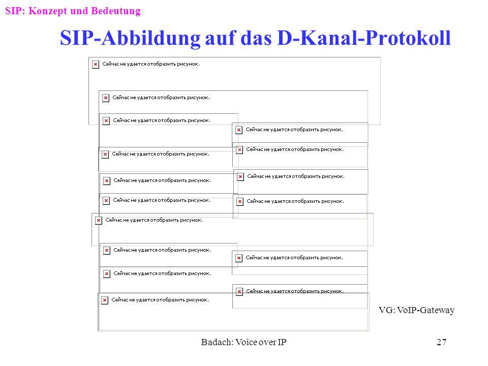 Badach: Voice over IP26 Verzweigung der ankommenden Anrufe SIP: Konzept und Bedeutung