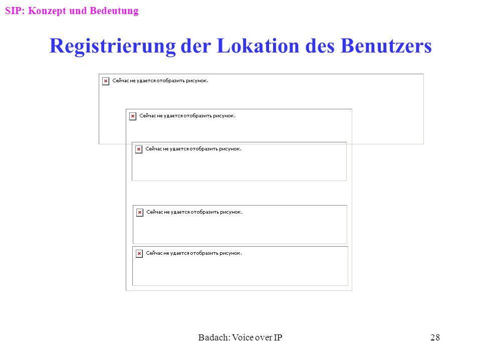 Badach: Voice over IP27 SIP-Abbildung auf das D-Kanal-Protokoll SIP: Konzept und Bedeutung VG: VoIP-Gateway