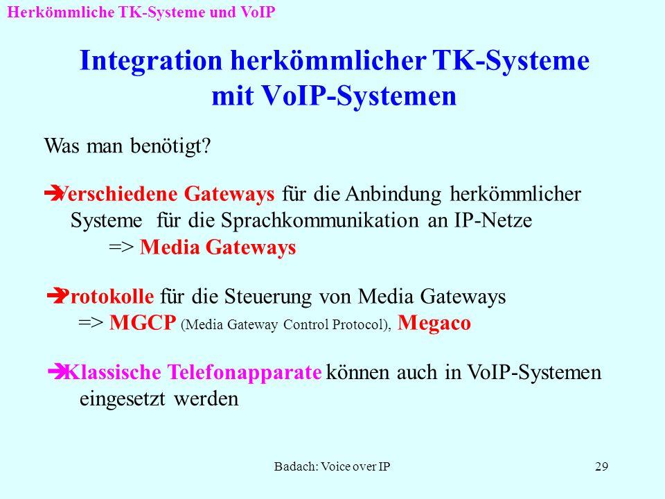 Badach: Voice over IP28 Registrierung der Lokation des Benutzers SIP: Konzept und Bedeutung