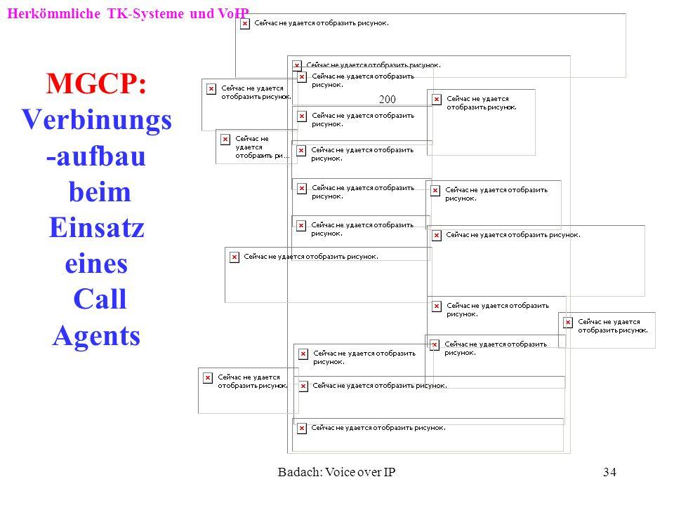 Badach: Voice over IP33 MGCP-Commands Herkömmliche TK-Systeme und VoIP