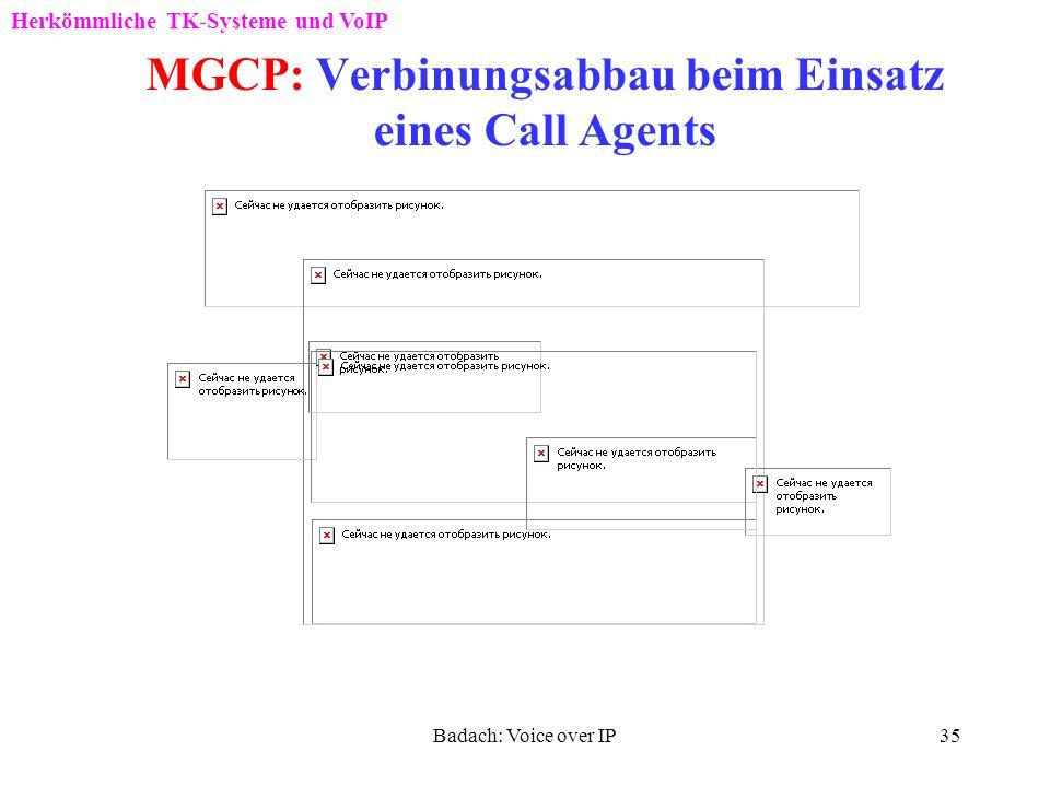 Badach: Voice over IP34 MGCP: Verbinungs -aufbau beim Einsatz eines Call Agents 200 Herkömmliche TK-Systeme und VoIP