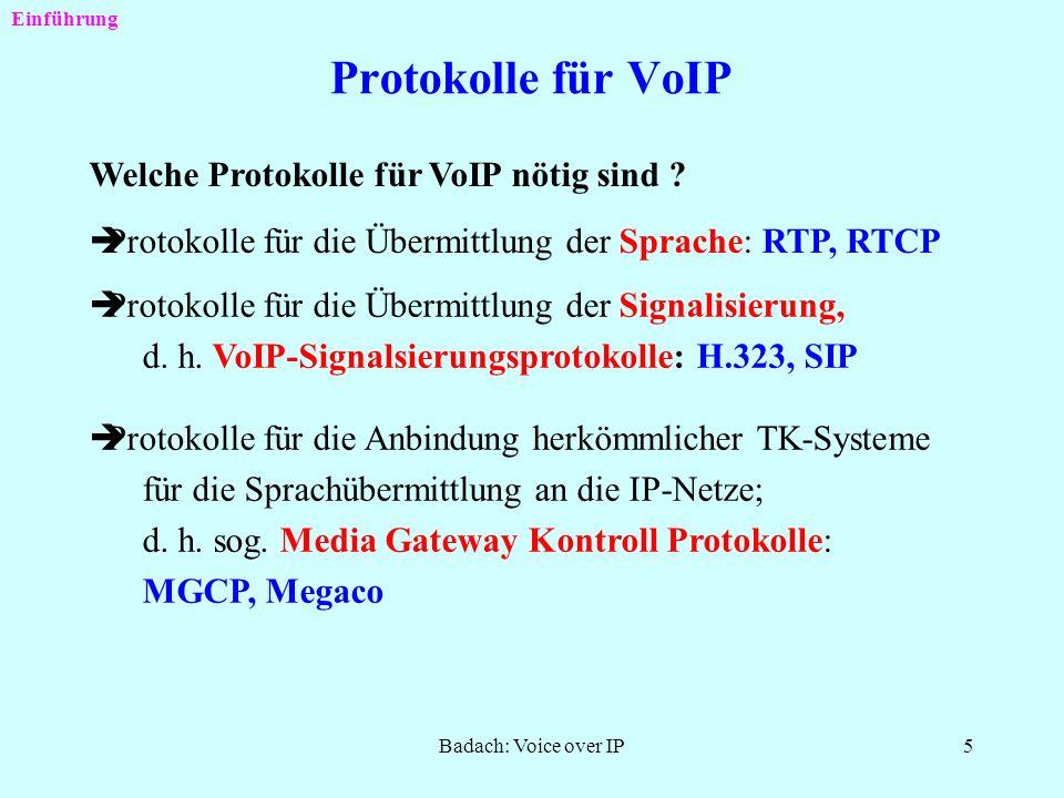 Badach: Voice over IP4 Beispiel für eine VoIP-basierte Systemlösung Einsatz eines VoIP-Gateways MS-PC: Multiservice PCR: Router Einführung