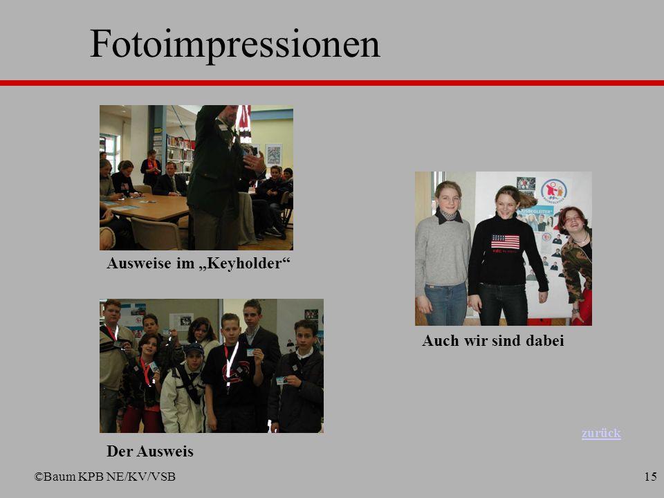 ©Baum KPB NE/KV/VSB14 Fotoimpressionen Die ersten Busbegleiter für Meerbusch Übergabe der Urkunden durch den Bürgermeister u. Vorstandsmitglied Rheinb