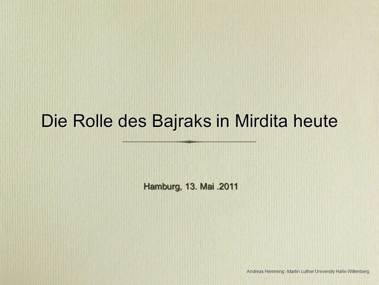 Andreas Hemming - Martin Luther University Halle-Wittenberg Mirdita und Mirdita historike Mirdita und Mirdita historike