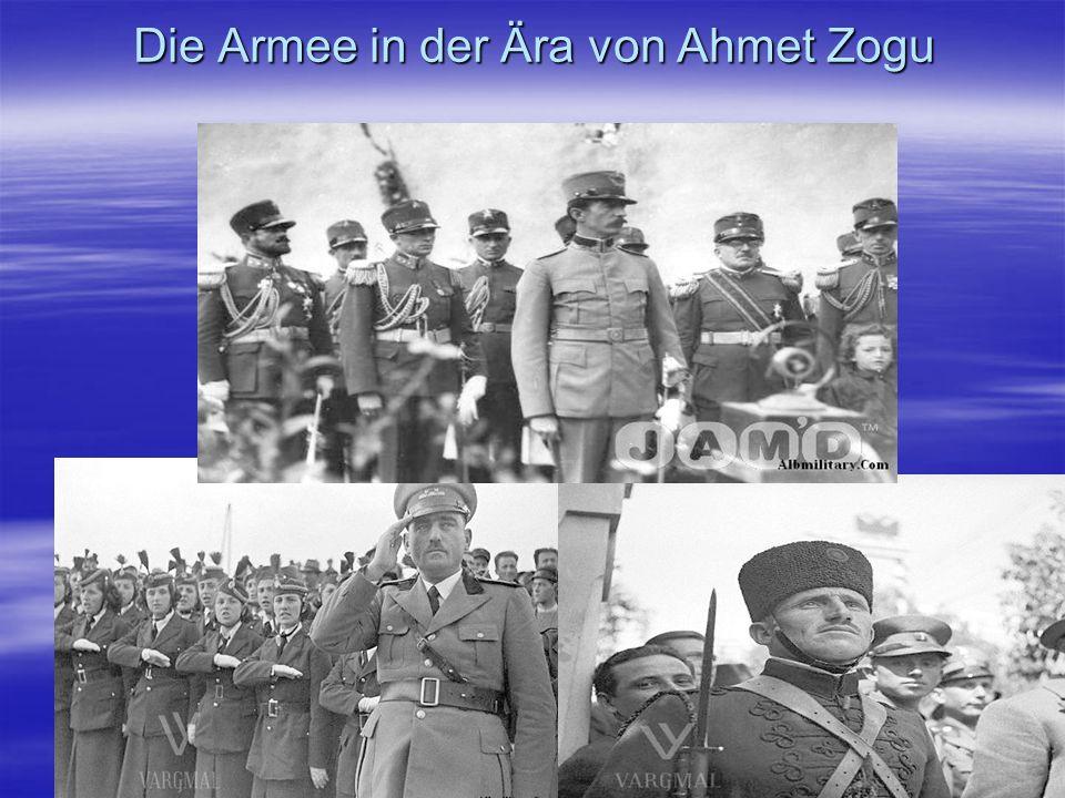 Die Armee in der Ära von Ahmet Zogu