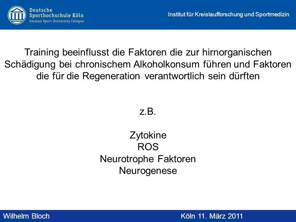 Wilhelm BlochAltenberg, 19. November 2010 Institut für Kreislaufforschung und Sportmedizin Wilhelm BlochKöln 11. März 2011 Training beeinflusst die Fa