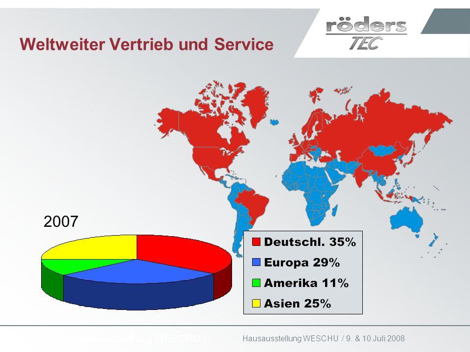 9. & 10.Juli 2008 Hausausstellung WESCHU / Weltweiter Vertrieb und Service 2007