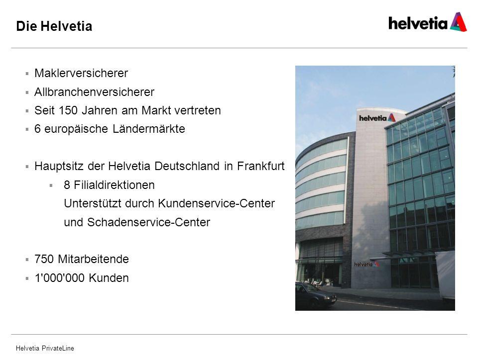 Helvetia PrivateLine Mehr als 2.5 Mio.Kunden Geschäftsvolumen von rund EUR 6,0 Mrd.