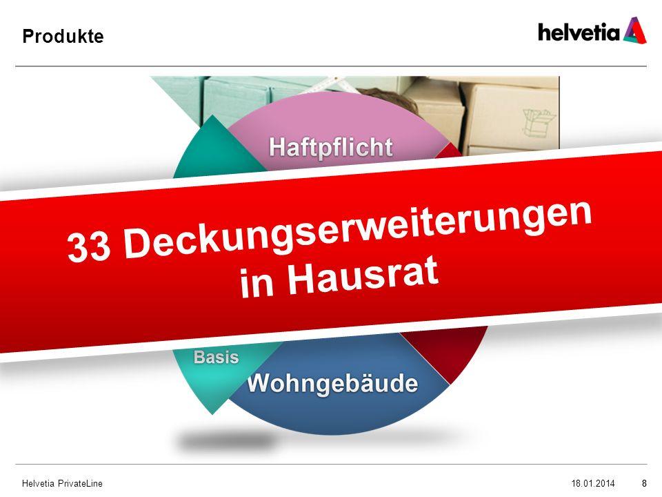 Helvetia PrivateLine9 Produkt Hausrat – Highlights 918.01.2014