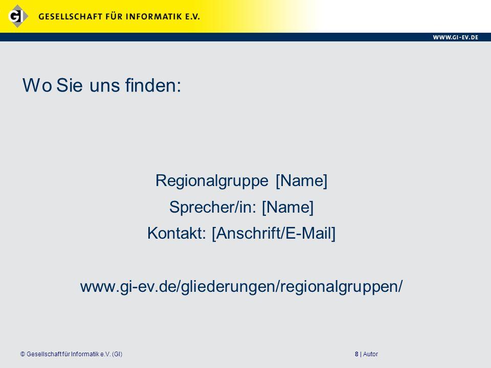8 | Autor© Gesellschaft für Informatik e.V.