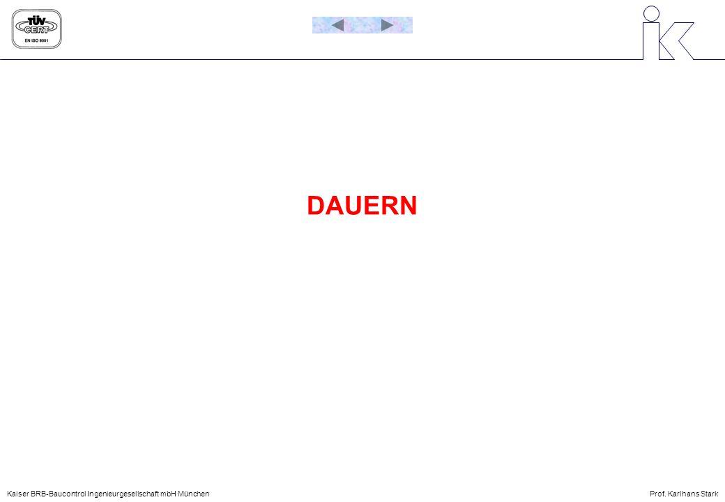Kaiser BRB-Baucontrol Ingenieurgesellschaft mbH MünchenProf. Karlhans Stark DAUERN