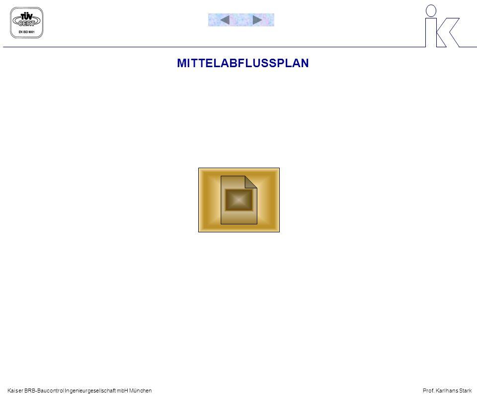 MITTELABFLUSSPLAN Kaiser BRB-Baucontrol Ingenieurgesellschaft mbH MünchenProf. Karlhans Stark