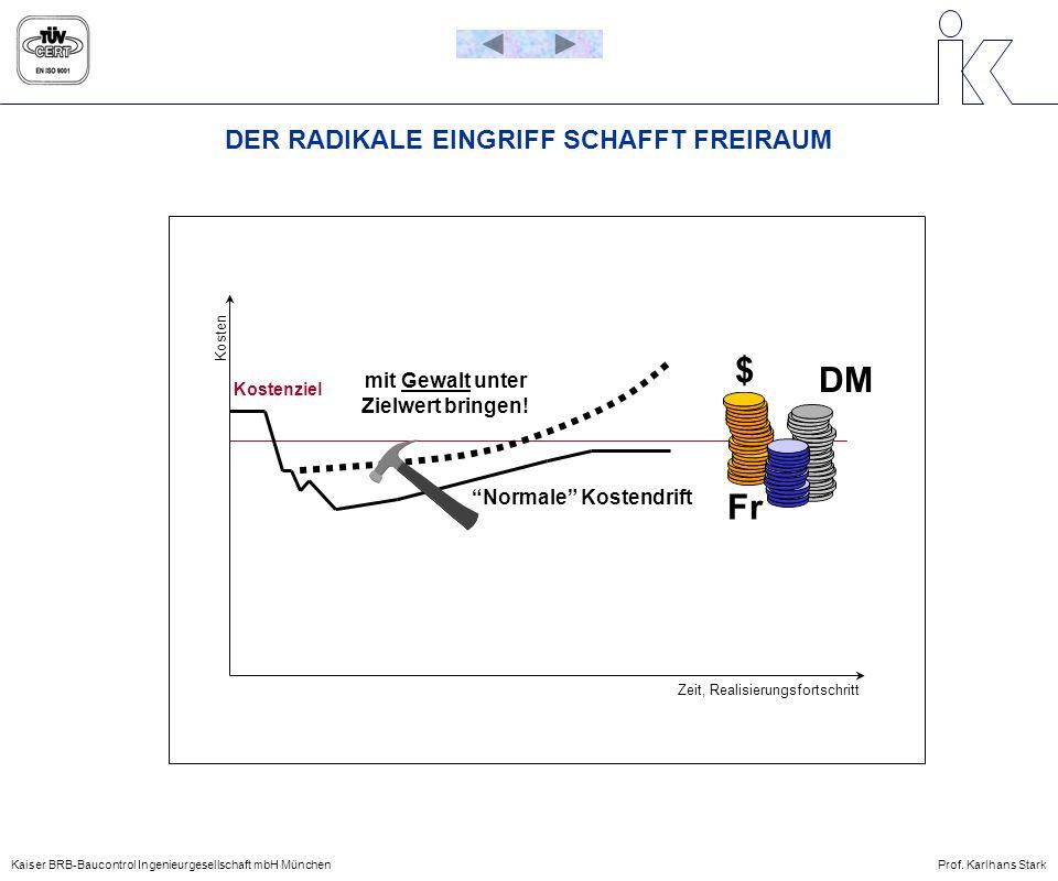 ZUORDNUNG DER FLÄCHENDEFINITIONEN Kaiser BRB-Baucontrol Ingenieurgesellschaft mbH MünchenProf.