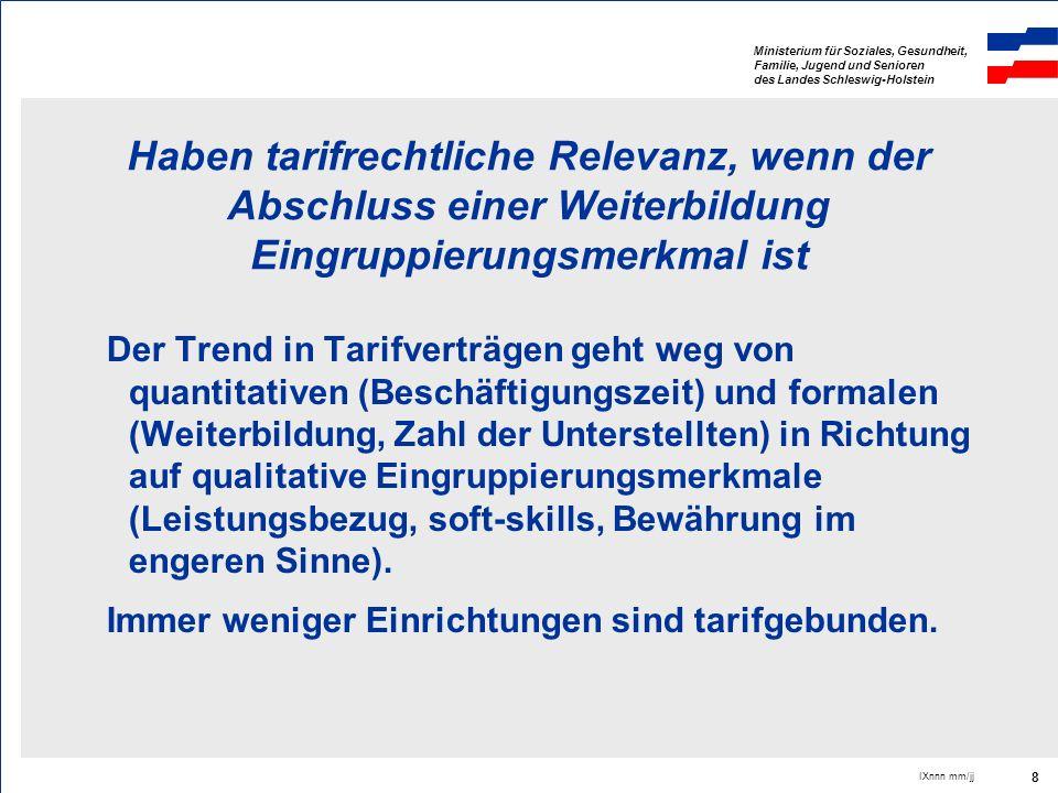 Ministerium für Soziales, Gesundheit, Familie, Jugend und Senioren des Landes Schleswig-Holstein IXnnn mm/jj 8 Haben tarifrechtliche Relevanz, wenn de