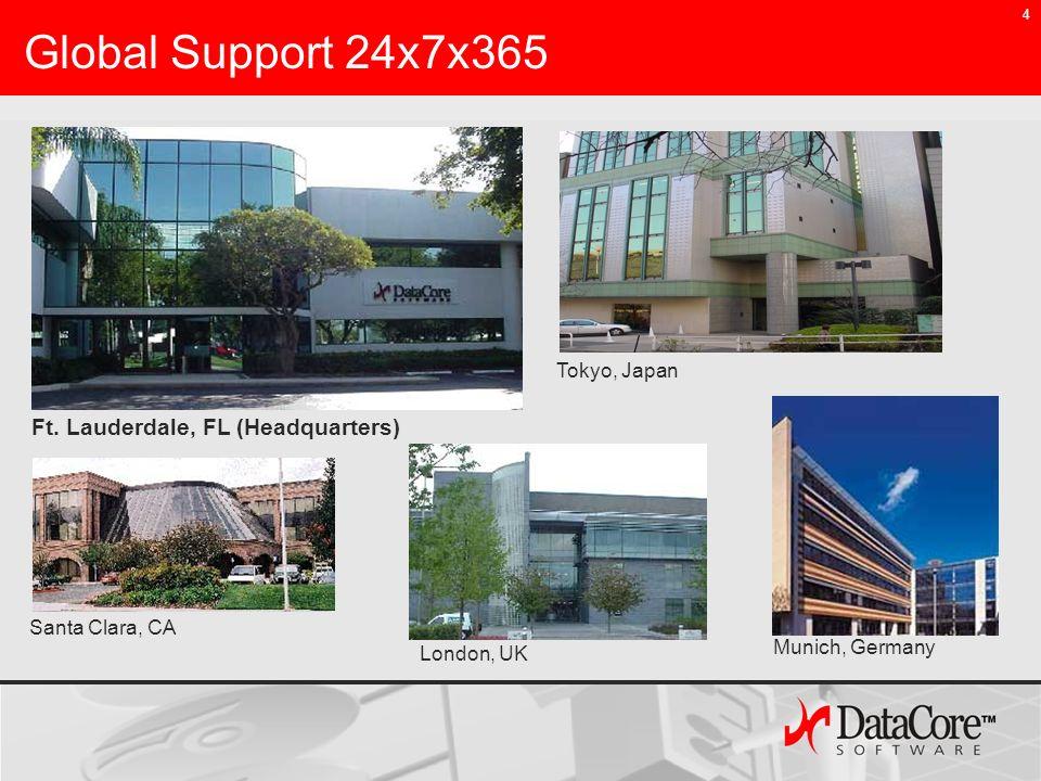 4 Global Support 24x7x365 Santa Clara, CA Ft. Lauderdale, FL (Headquarters) London, UK Tokyo, Japan Munich, Germany