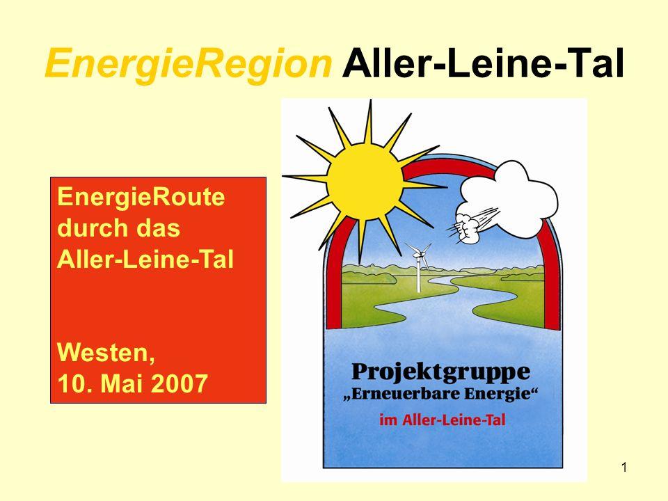 cbv 05/071 EnergieRegion Aller-Leine-Tal EnergieRoute durch das Aller-Leine-Tal Westen, 10. Mai 2007