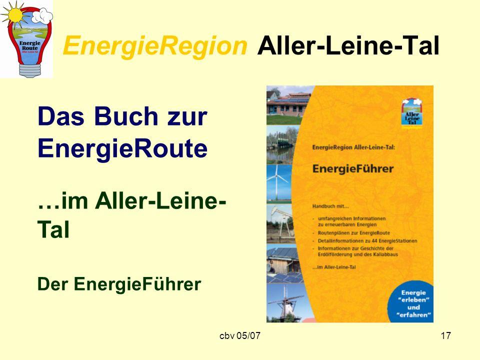 cbv 05/0717 EnergieRegion Aller-Leine-Tal Das Buch zur EnergieRoute …im Aller-Leine- Tal Der EnergieFührer
