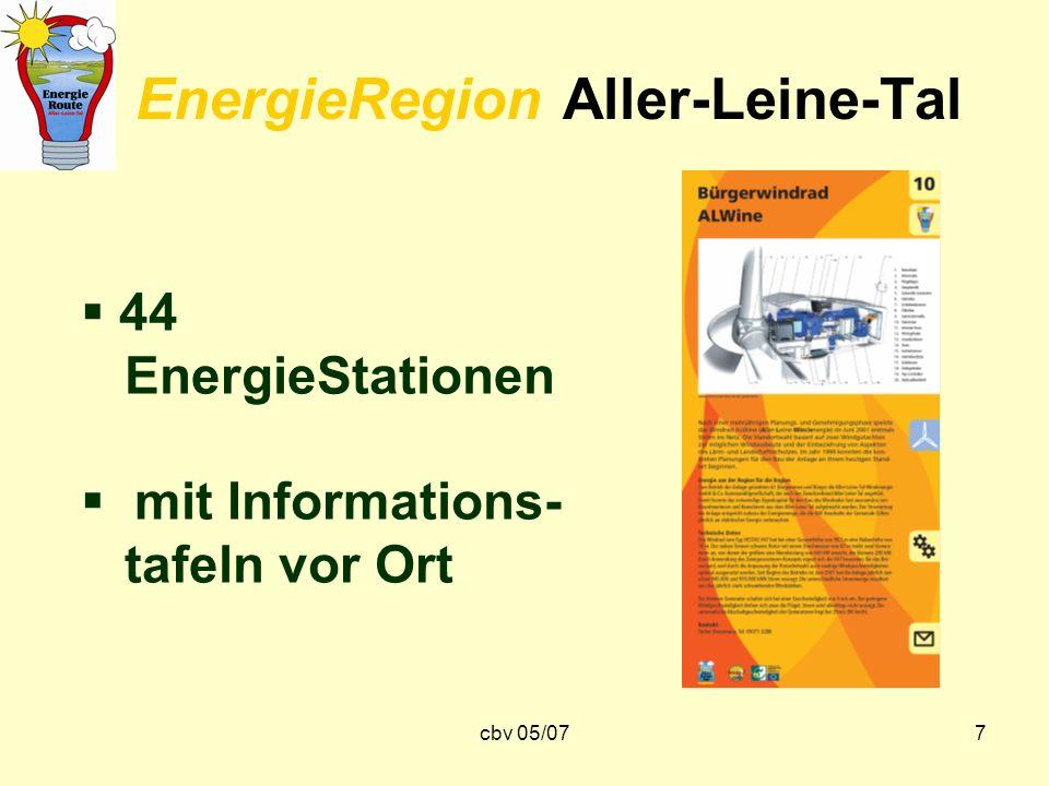cbv 05/077 EnergieRegion Aller-Leine-Tal 44 EnergieStationen mit Informations- tafeln vor Ort
