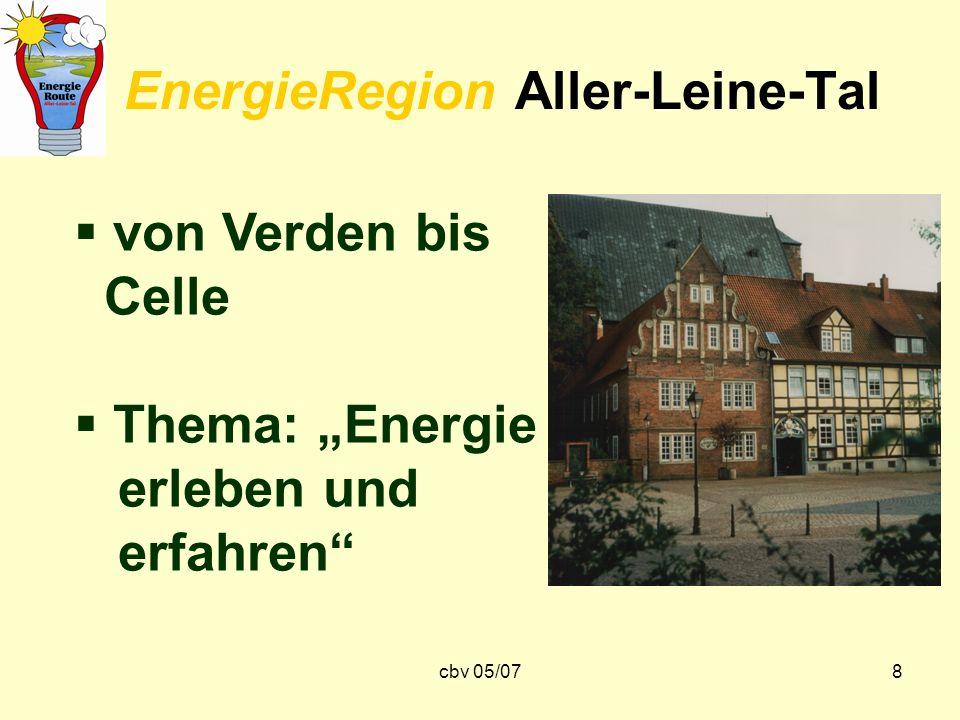 cbv 05/078 EnergieRegion Aller-Leine-Tal von Verden bis Celle Thema: Energie erleben und erfahren