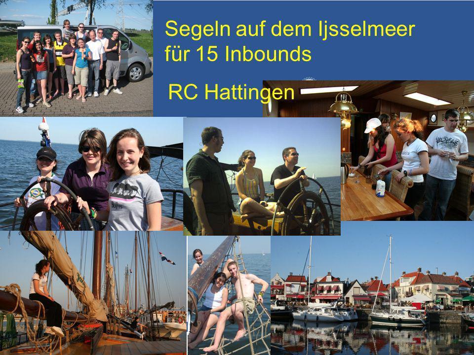 Referent: Martin EggertJugenddienst D1900: Vortragsthema Segeln auf dem Ijsselmeer für 15 Inbounds RC Hattingen