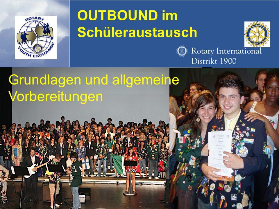 Referent: Martin EggertJugenddienst D1900: Vortragsthema OUTBOUND im Schüleraustausch Grundlagen und allgemeine Vorbereitungen