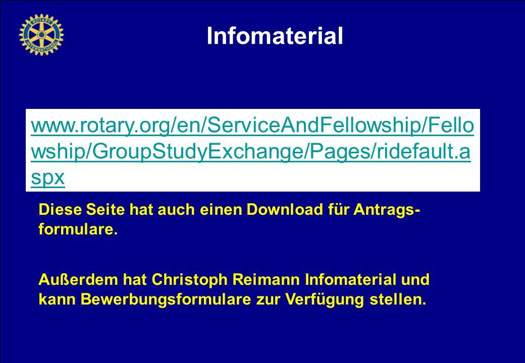 Infomaterial Diese Seite hat auch einen Download für Antrags- formulare.