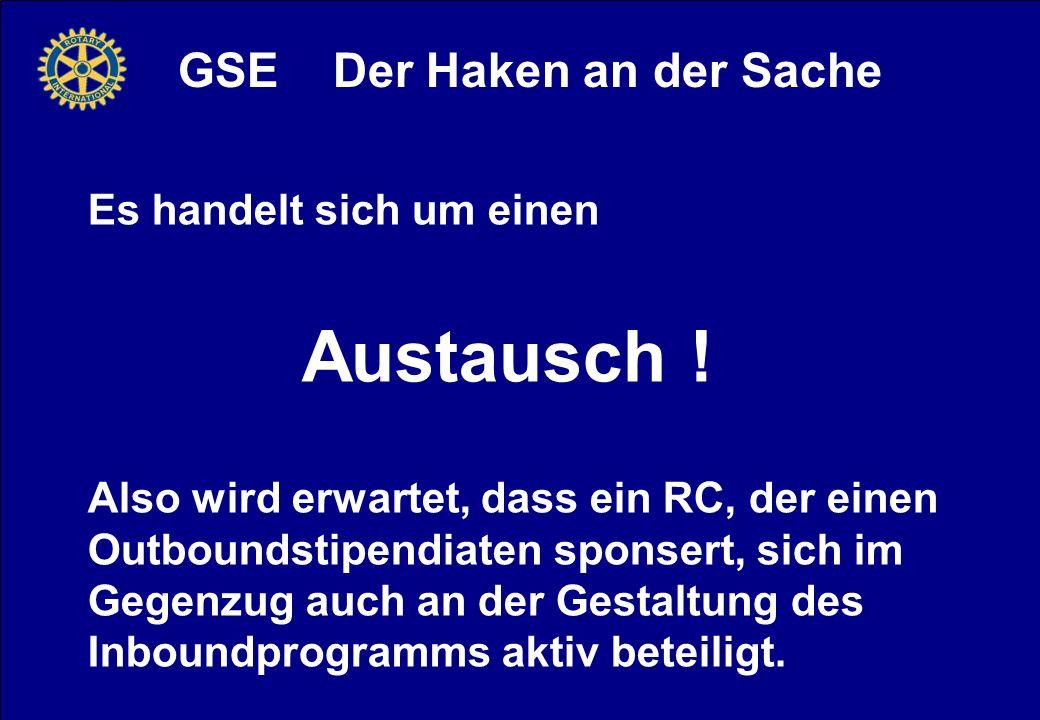 GSE Der Haken an der Sache Es handelt sich um einen Austausch .