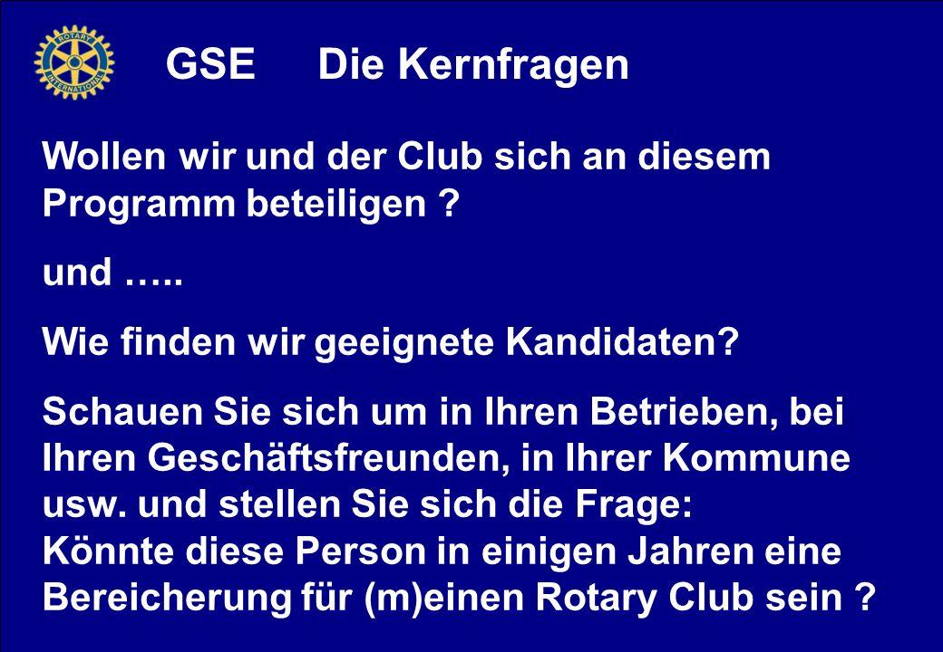 GSE Die Kernfragen Wollen wir und der Club sich an diesem Programm beteiligen .