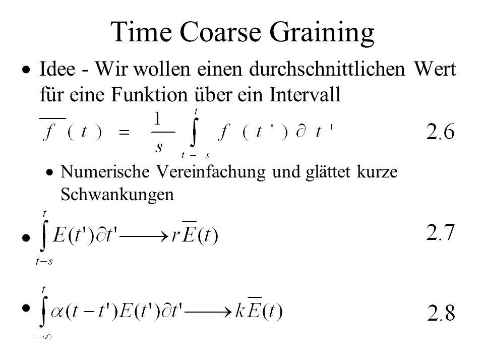 Time Coarse Graining Idee - Wir wollen einen durchschnittlichen Wert für eine Funktion über ein Intervall Numerische Vereinfachung und glättet kurze S