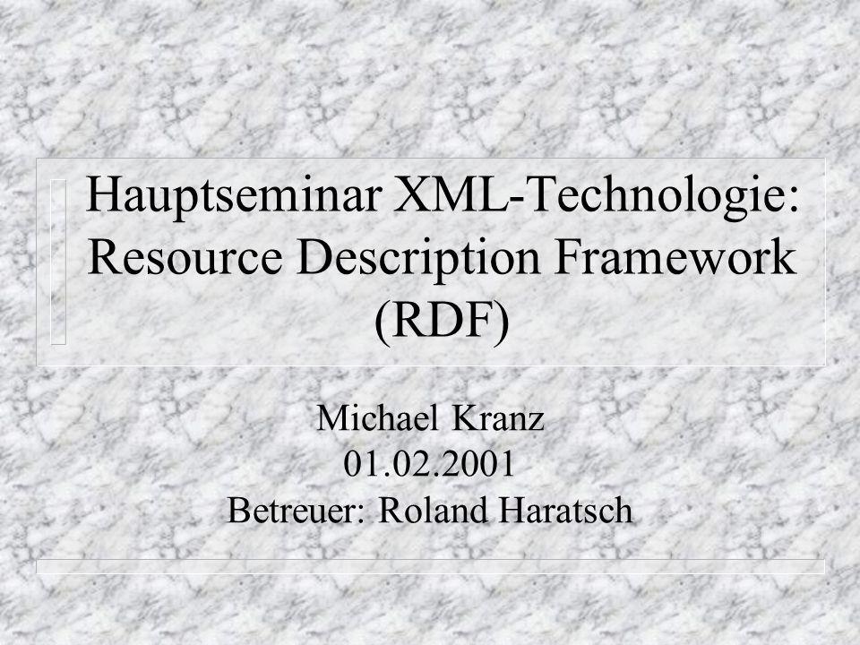 Folie 12Hauptseminar XML-Technologie, Lehrstuhl Prof.