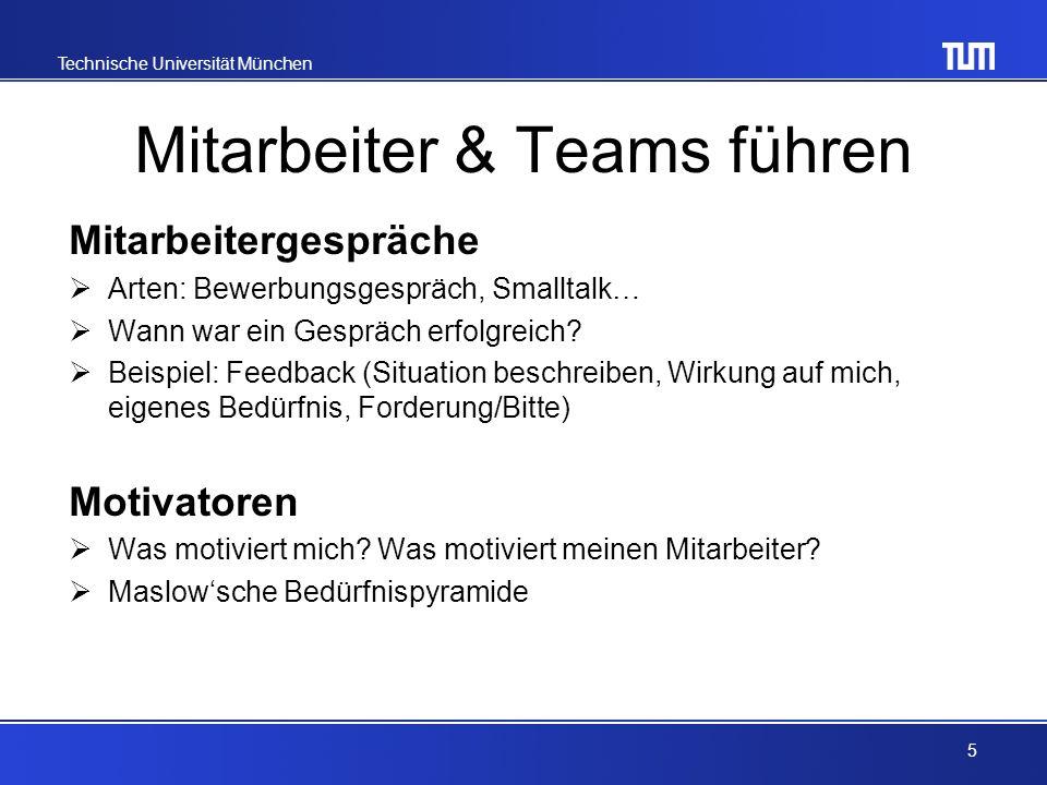 Technische Universität München Konfliktmanagement Was ist ein Konflikt.
