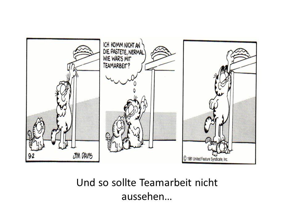 Und so sollte Teamarbeit nicht aussehen…