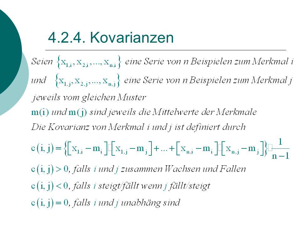 4.2.4. Kovarianzen