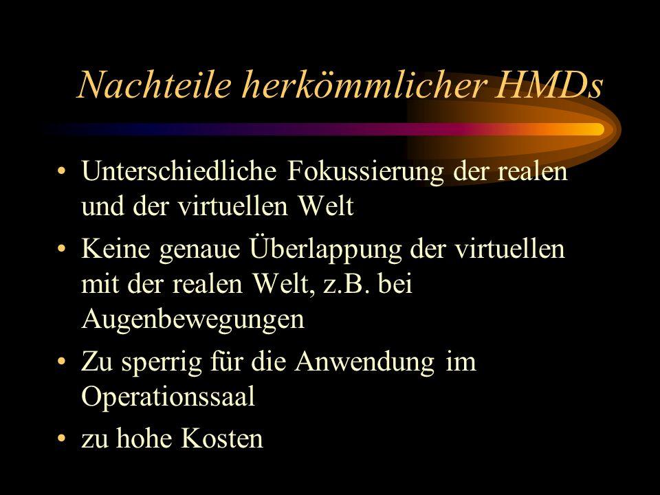 Varioscope AR Idee: HMD zur Anwendung im Operationssaal entwickelt von der Gruppe um Prof.