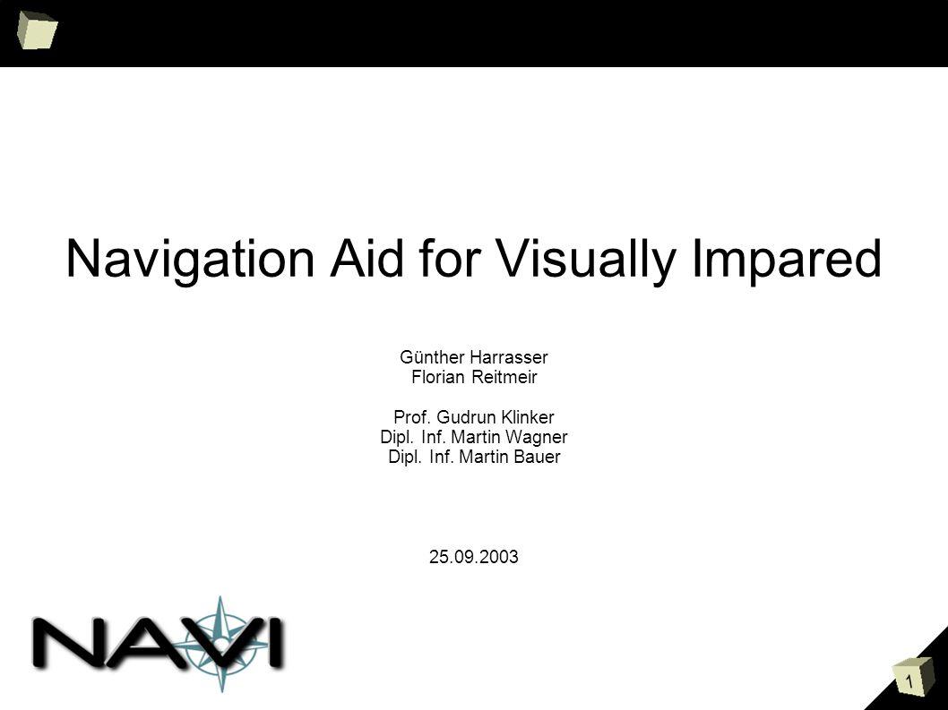 2 Inhalt Aufgabenstellung Navigationssystem / GPS Eingabe schnell, kein Visuelles Feedback Ausgabe Audio Taktil Informationen / Filter Metainformationen Benutzerprofil erlernen DWARF Komponenten
