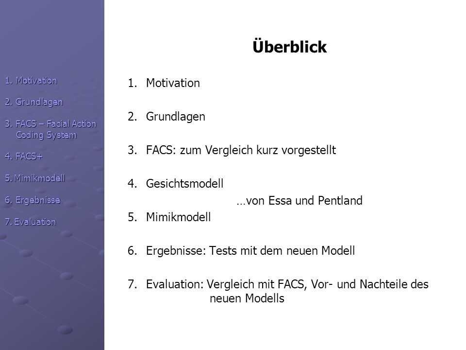 Überblick 1.Motivation 2.Grundlagen 3.