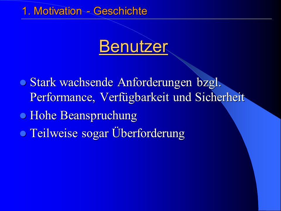 Gliederung 1.Motivation 1. Motivation 2. Die Vision des Autonomic Computing 2.