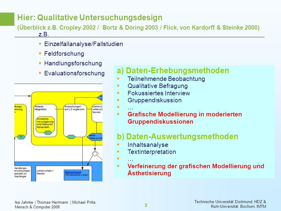 Isa Jahnke   Thomas Herrmann   Michael Prilla Mensch & Computer 2008 Technische Universität Dortmund, HDZ & Ruhr-Universität Bochum, IMTM 33 z.B. Einz