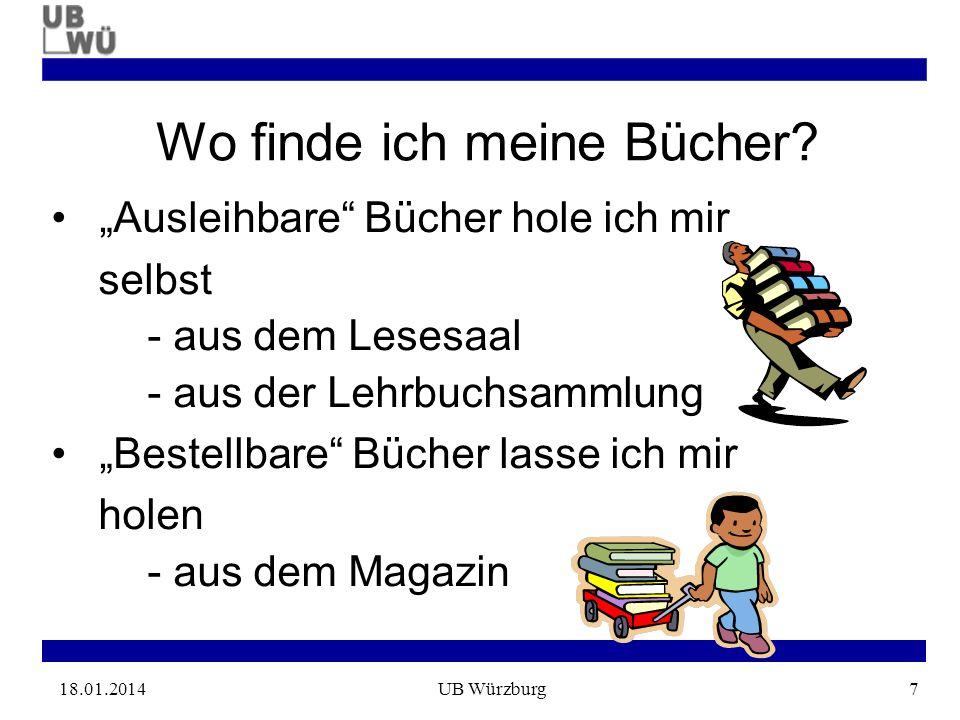 18.01.2014UB Würzburg7 Wo finde ich meine Bücher.