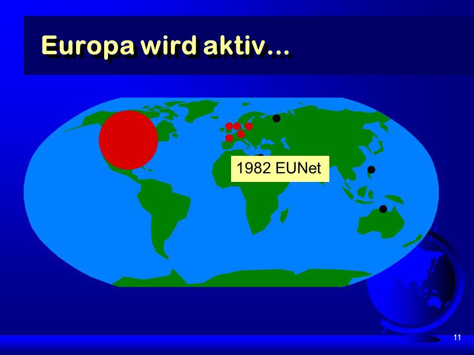 11 Europa wird aktiv... 1982 EUNet