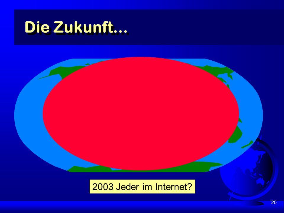 20 Die Zukunft... 2003 Jeder im Internet?