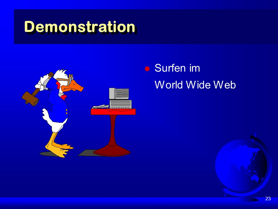 23 Surfen im World Wide Web Demonstration