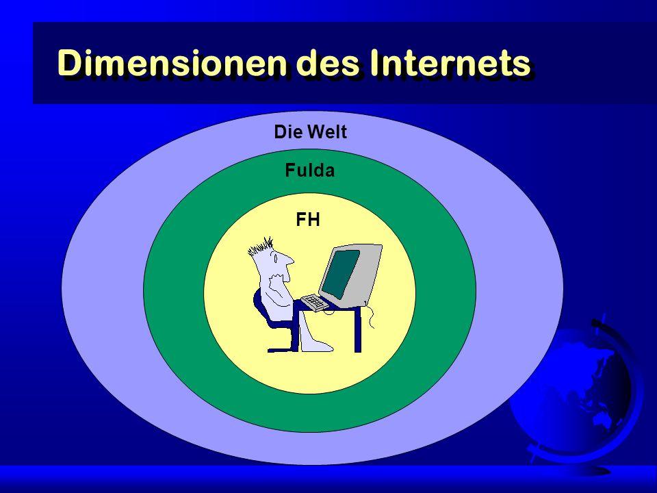Dimensionen des Internets FH Fulda Die Welt