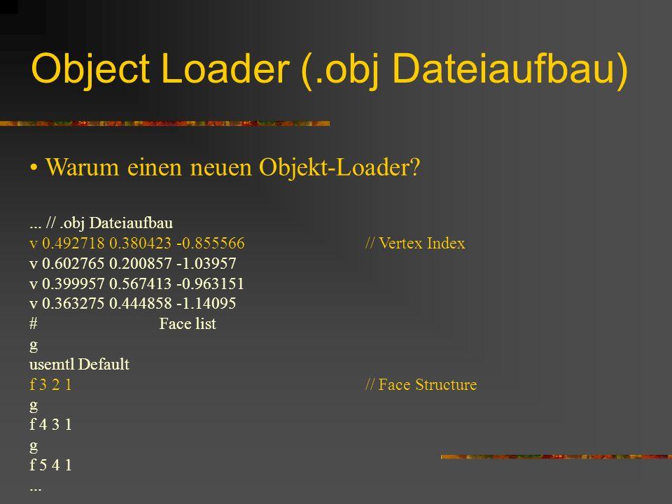 Object Loader (.obj Dateiaufbau)...