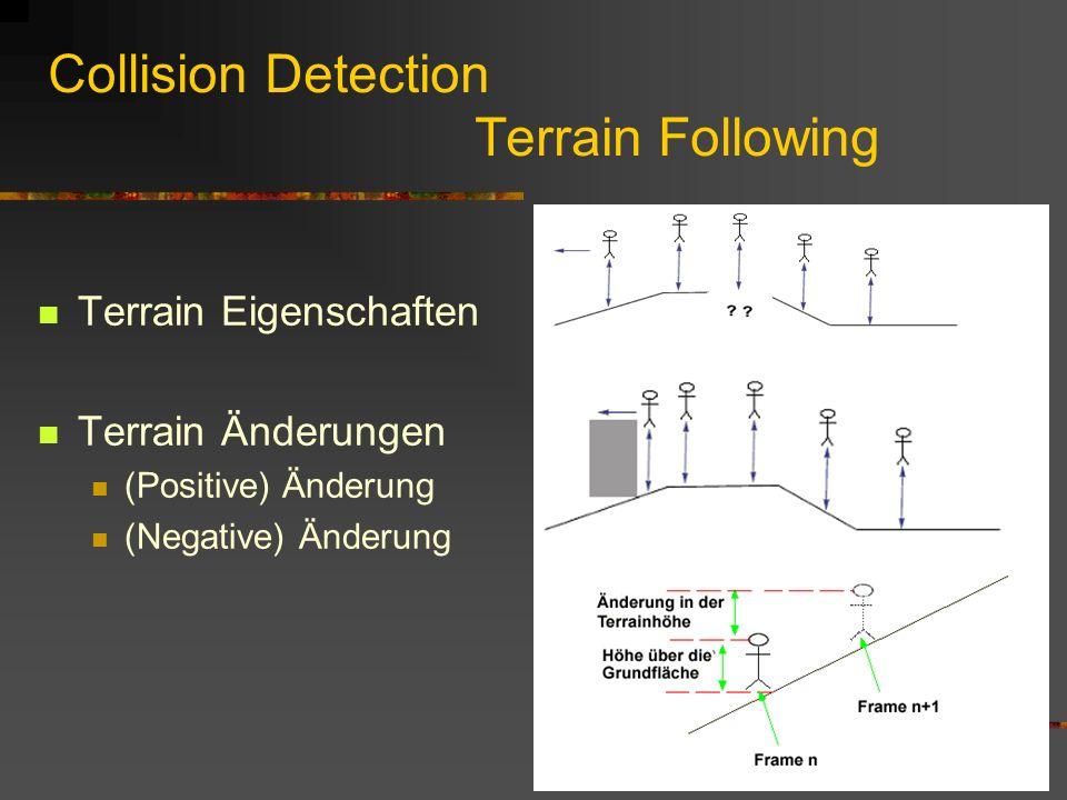 Collision Detection Eine BranchGroup für jeden Typ der Kollisionsabfrage Folge: Unterteilung der Gesamtszene auf nicht zusammengehörige Objekten